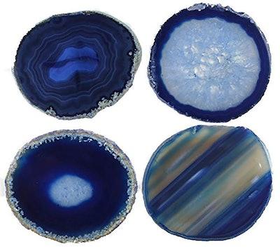 JIC Gem Agate Coasters (4 Pack)