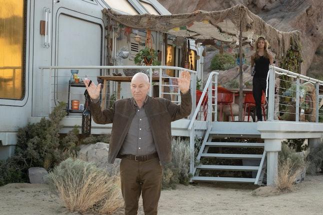 Picard and Raffi in STAR TREK: PICARD.