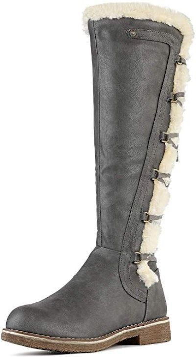 DREAM PAIRS Knee High Combat Boots
