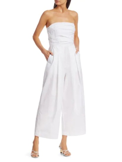 Tristan Strapless Pleated Jumpsuit