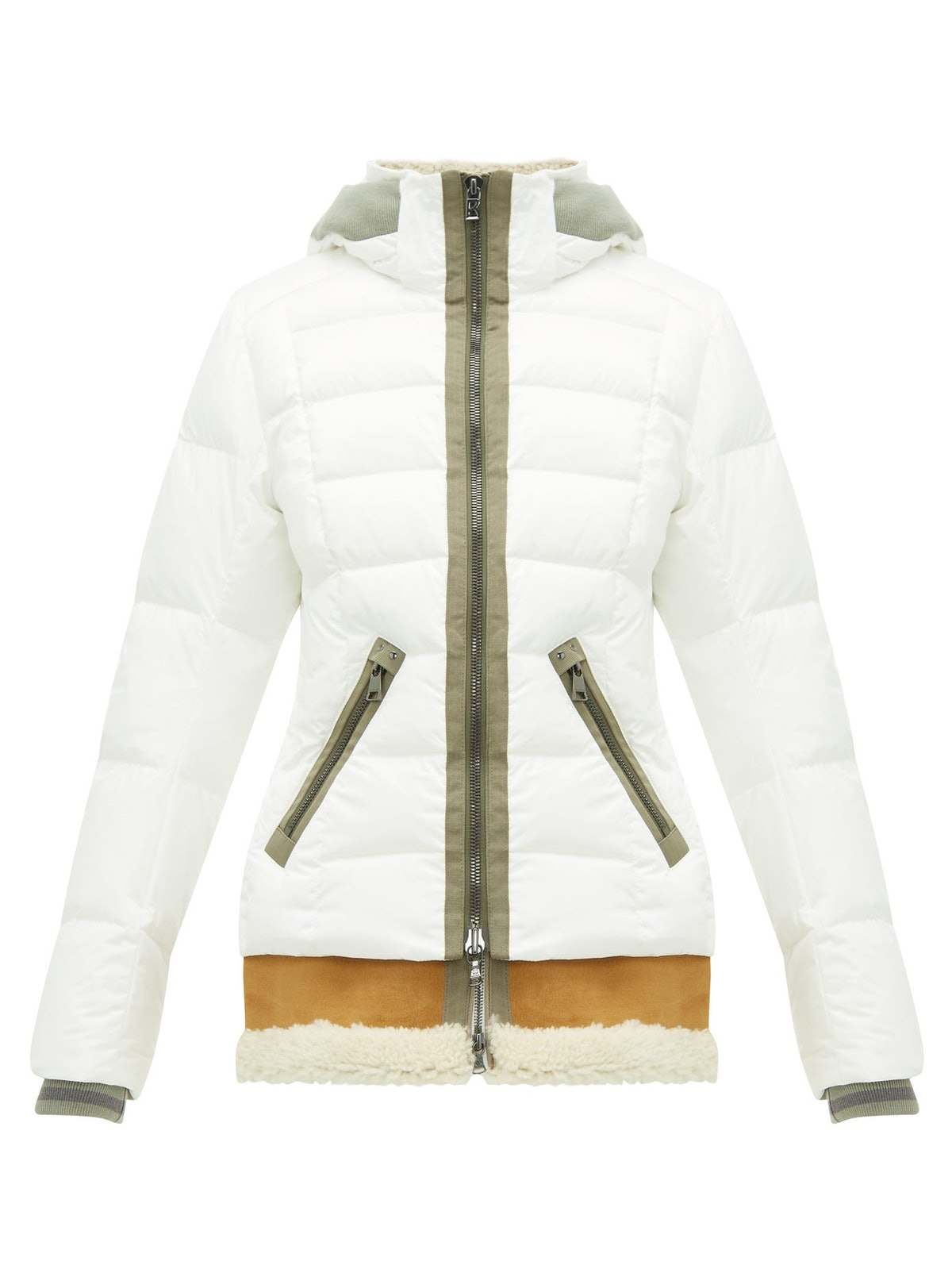 Elya-D Shearling-Insert Down-Filled Hooded Jacket