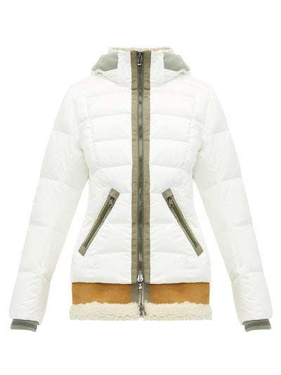 Elya-D Shearling-Insert Down-Filled Hooded Jacket