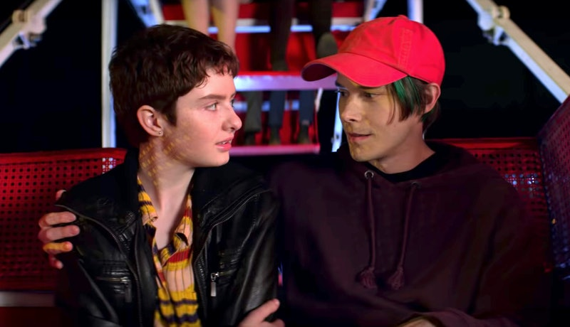 Lachlan Watson as Theo and Jonathan Whitesell as Robin in Chilling Adventures of Sabrina Part 3
