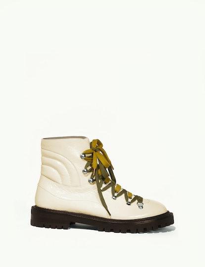 Slalom boots in semi patent calfskin