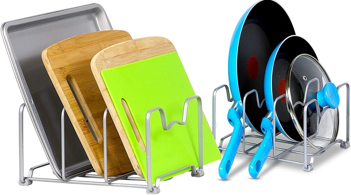 SimpleHouseware Kitchen Cabinet Pantry and Bakeware Organizer Rack