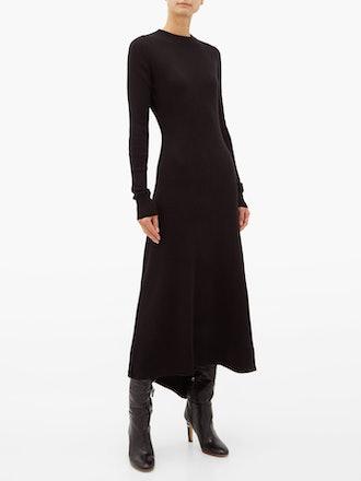 Fishtail Ribbed Cashmere Dress