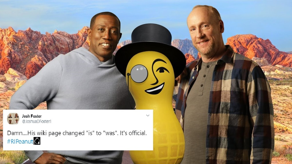 These Tweets About Mr. Peanut's Death In Planters' 2020 Super Bowl commericial will either make or break your day.