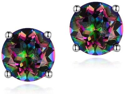 VOLUKA Hypoallergenic Rainbow Quartz Earrings