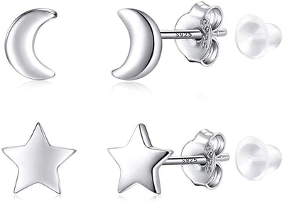 Poplar Sterling Silver Stud Earrings (2-Pack)