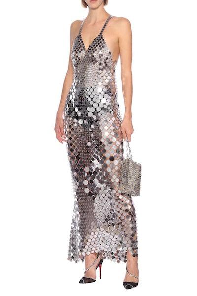 Silver Coin Chain Dress