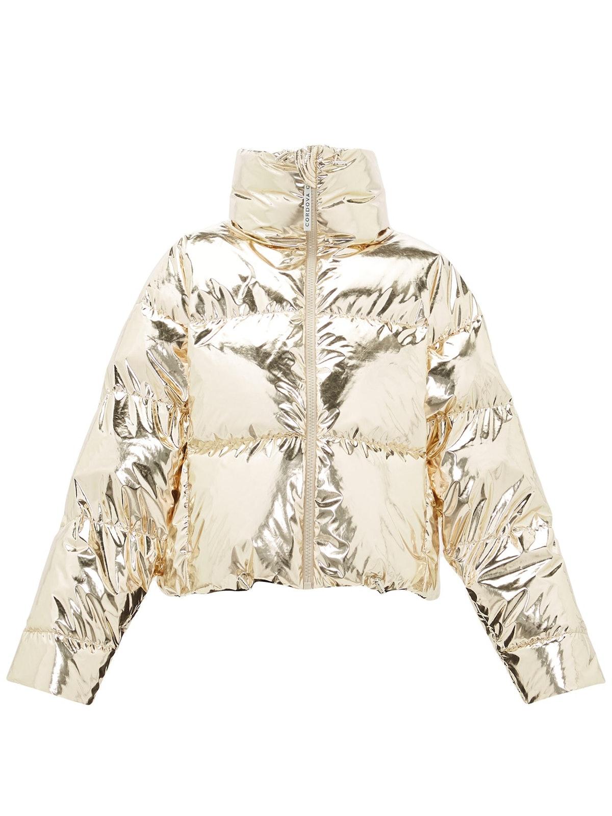 Mont Blanc Metallic Down-Filled Jacket