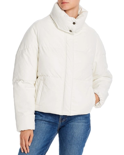 Camila Quilted Faux-Leather Puffer Jacket