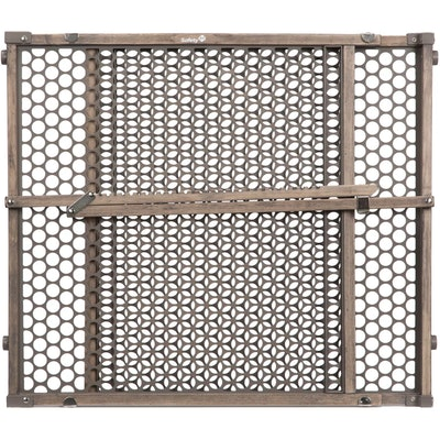 Safety 1st Vintage Grey Wood Doorway Security Gate - Gray