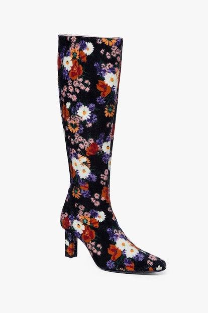 Benny Boot / Black Floral