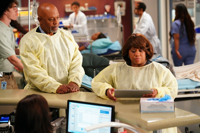 Bailey (Chandra Wilson) expressed grief over her miscarriage to Webber (James Pickens Jr.) during the 'Grey's Anatomy' winter premiere episode.