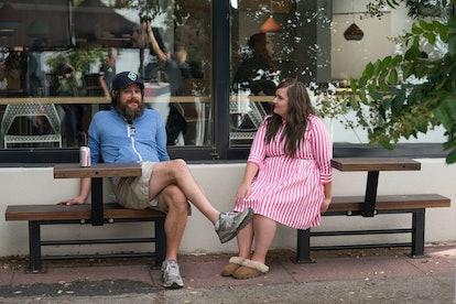 Annie with boyfriend Ryan in Shrill.