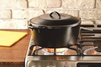 Lodge Pre-Seasoned Cast Iron Dutch Oven (7-Quart)