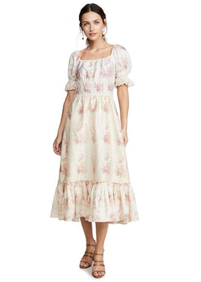 LOVESHACKFANCY Women's Terrence Dress