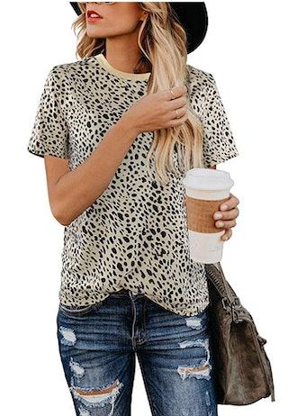 BMJL Women's Leopard Print Top