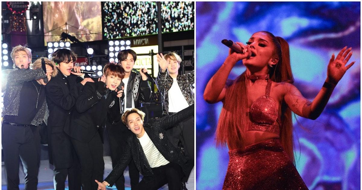 Ariana Grande & BTS Grammys Rehearsal Photo Has Fans Asking 1 Big Question