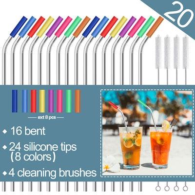 Mutnitt Stainless Steel Straws (20 Pack)