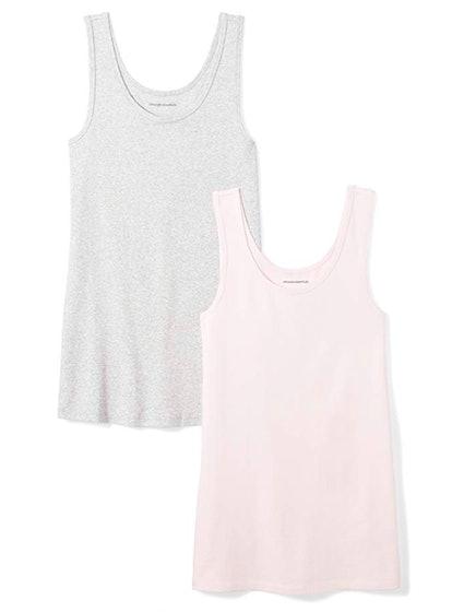 Amazon Essentials Women's Slim-Fit Tank (2-Pack)