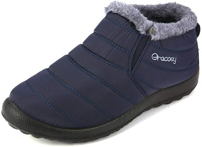 gracosy Fur-Lined Slip-On Shoes