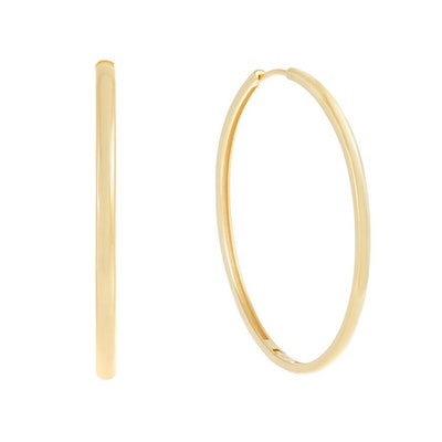 Large Thin Solid Hoop Earring