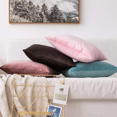 MIULEE Velvet Pillow Covers (2-Pack)