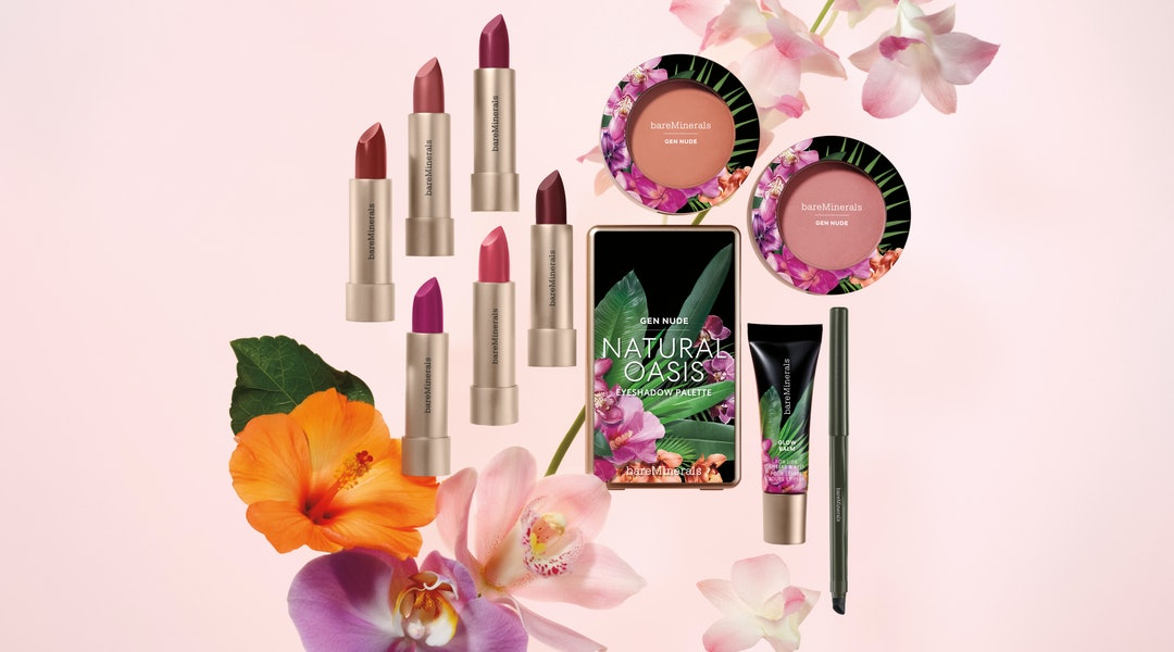bareMinerals' new Beauty of Nature makeup collection features lipstick, eyeshadow, glow balm, and more