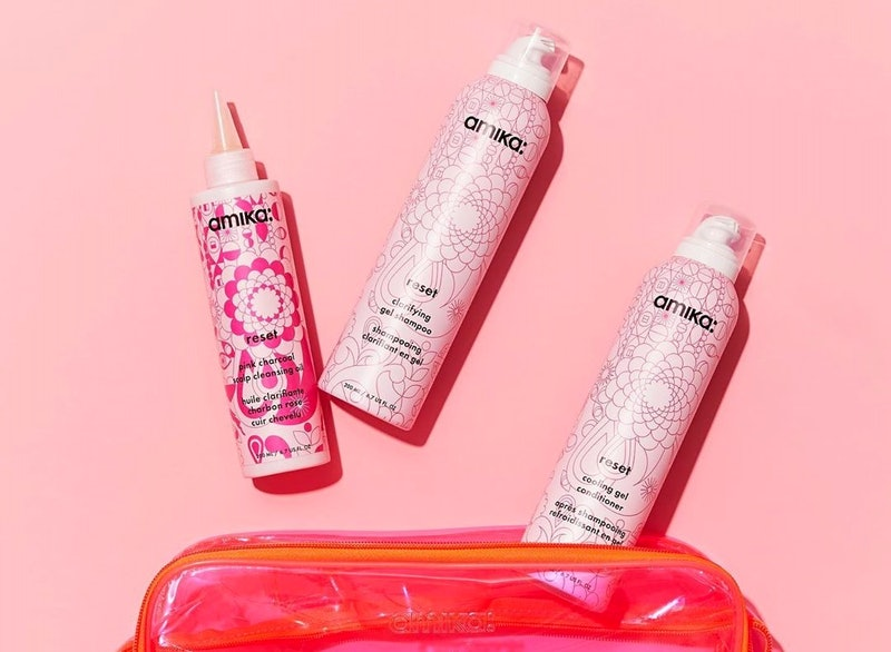 amika's new Reset Clarifying Gel Shampoo and its conditioner duo are like a clean sweep for your scalp.