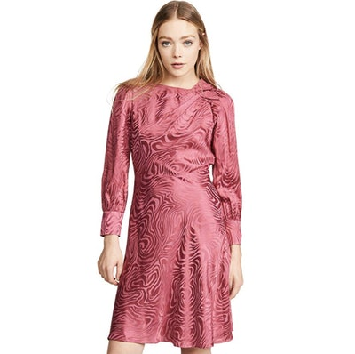 Rebecca Taylor Women's Long Sleeve Swirl Jacquard Dress