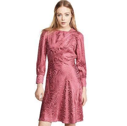 Rebecca Taylor Women's Long Sleeve Swirl Jacquard Dress