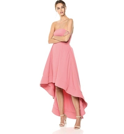 C/Meo Collective Women's Entice Strapless Maxi Dress Hi-Lo Gown