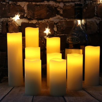 Antizer Flameless Candles (Pack of 9)