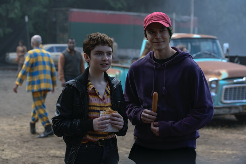 Theo and Robin at the carnival in Chilling Adventures of Sabrina.
