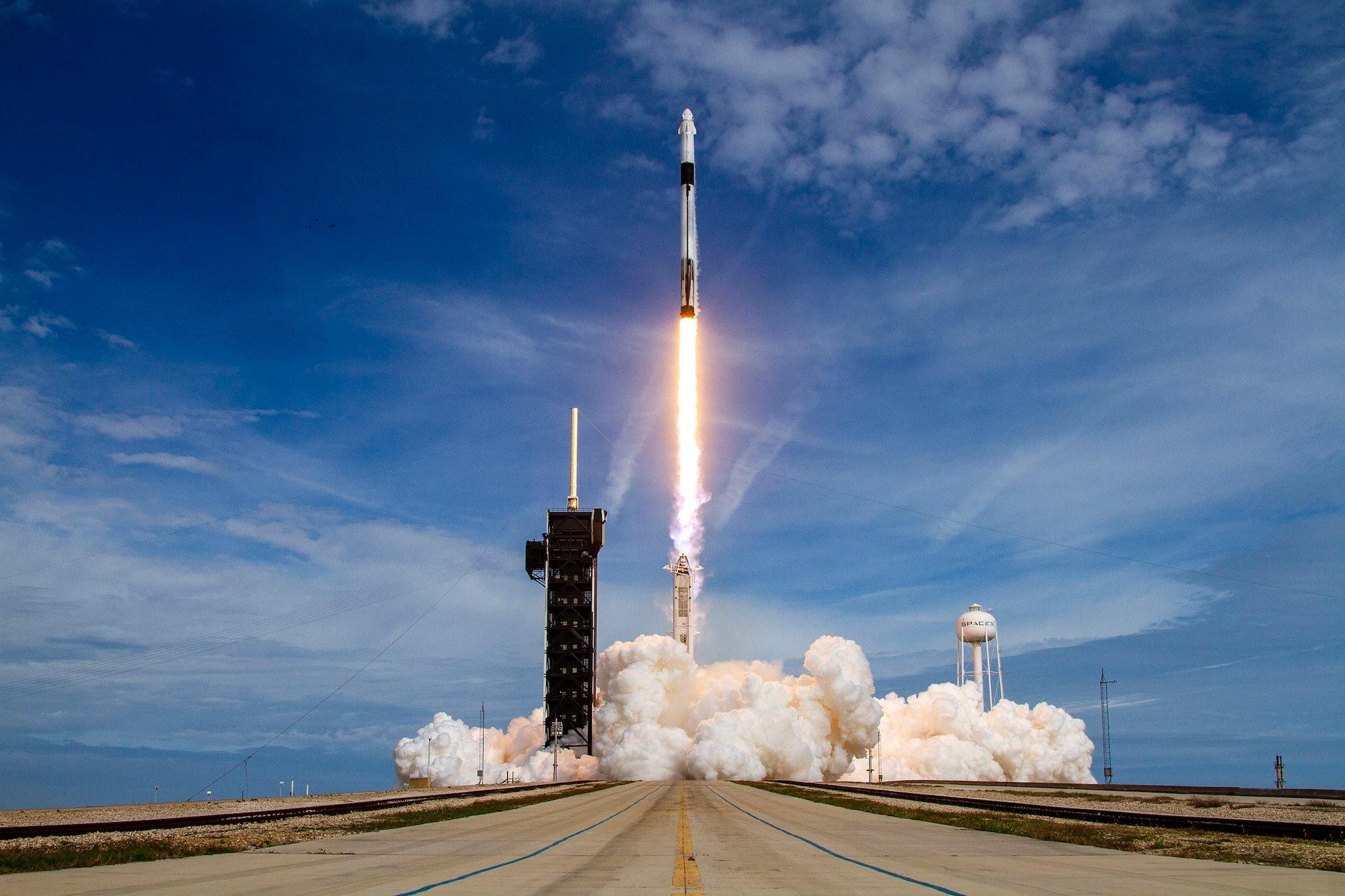 Crew Dragon mission launch.