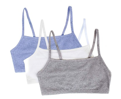 Fruit of the Loom Women's Cotton Pullover Sport Bra (3-Pack)