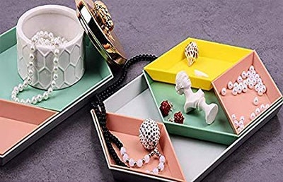Unikon Stackable Jewelry Tray (4 Pack)