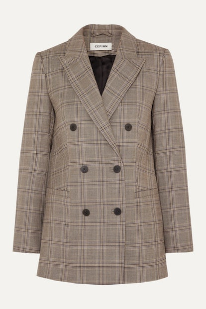 Prince of Wales Checked Woven Blazer