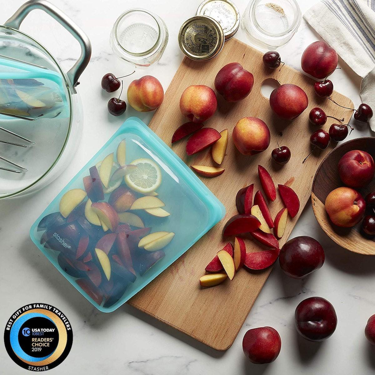 Stasher Reusable 1/2-Gallon Food Storage Bag