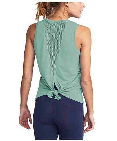 Mippo Womens Mesh Exercise Tank Top