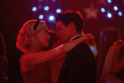 Kiernan Shipka and Gavin Leatherwood as Sabrina and Nick in 'CAOS'