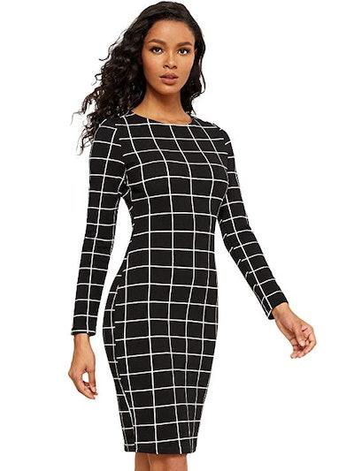 MAKEMECHIC Women's Long Sleeve Dress