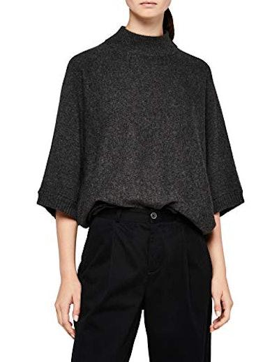 Meraki Women's Oversized High-neck Sweater