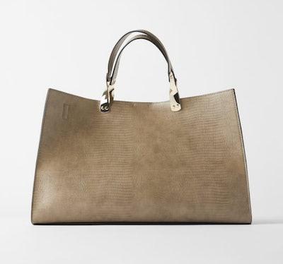 Rectangular Animal Print Tote Bag