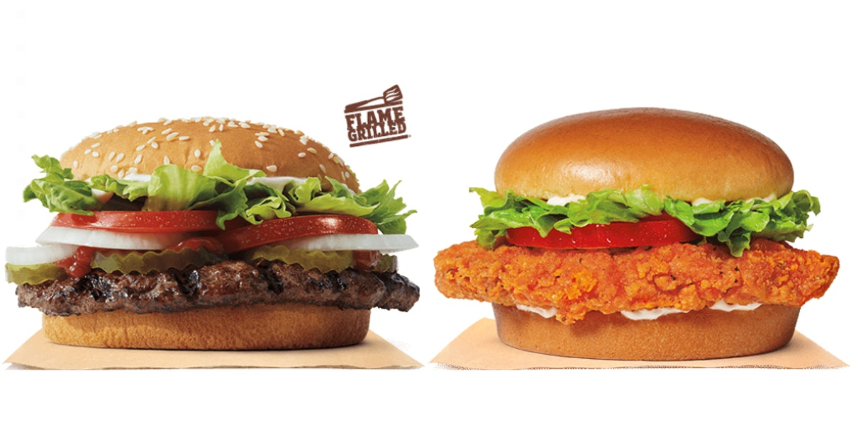 Burger King's 2020 2 For $6 Deal Menu Includes All Your Faves