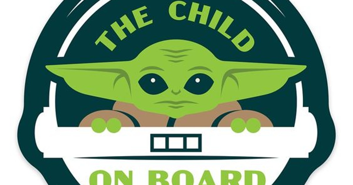 This Baby Yoda Car Magnet Is The New Version Of Baby On Board