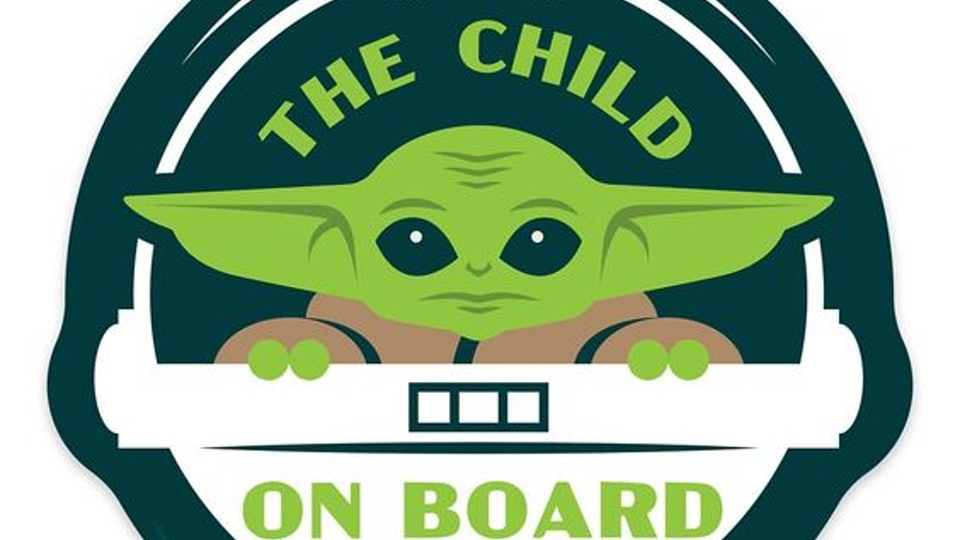 Baby Yoda Car Magnet