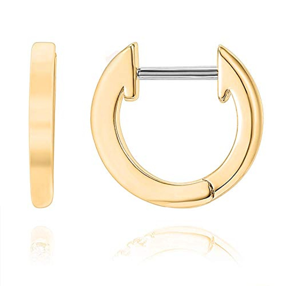 PAVOI 14K Yellow Gold Plated Cuff Earrings Huggie Stud